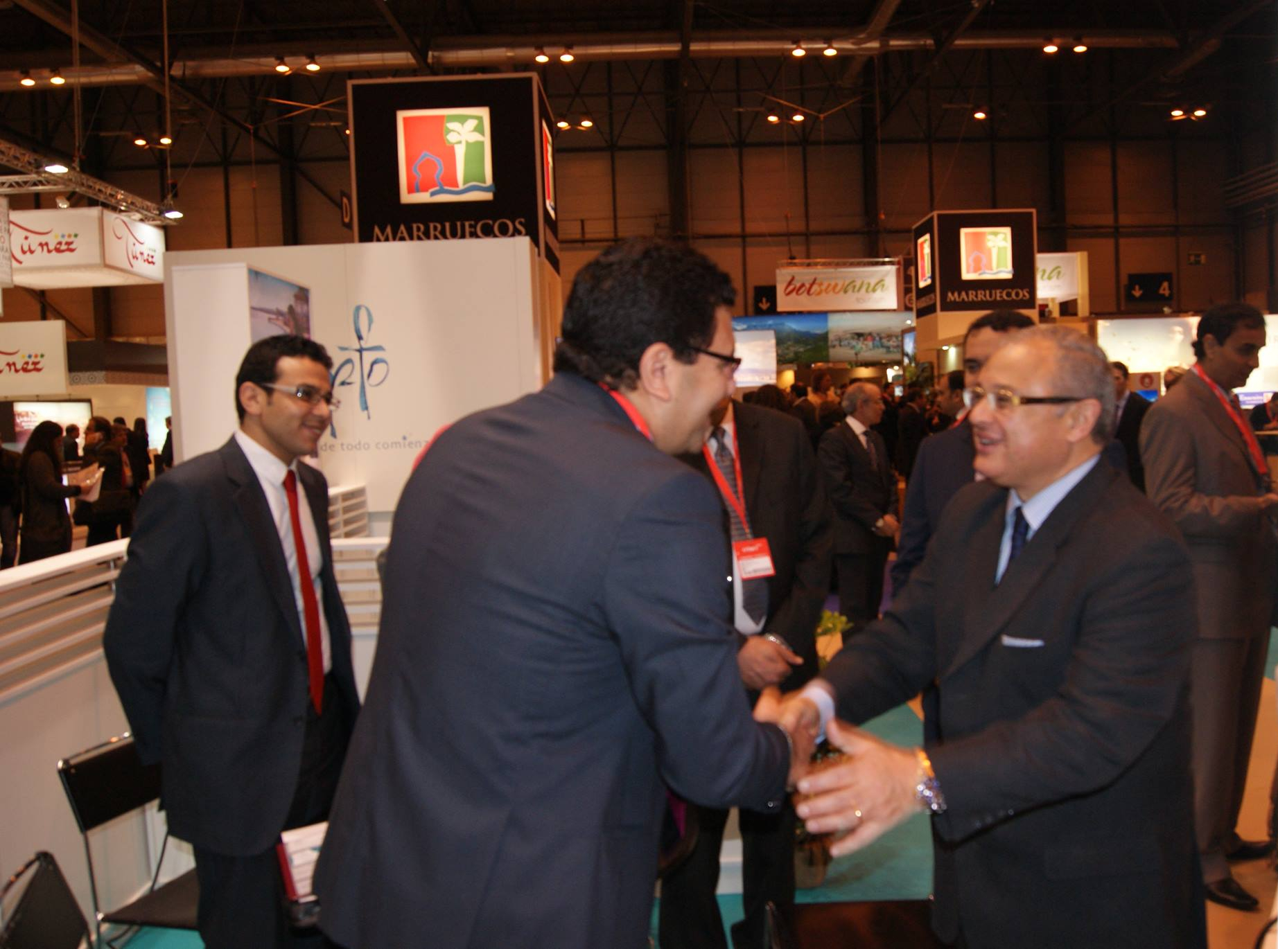 Nilers Tours CEO welcoming his excellency The Tourism Minister of Egypt during (FITUR)International Tourism Trade Fair of Madrid