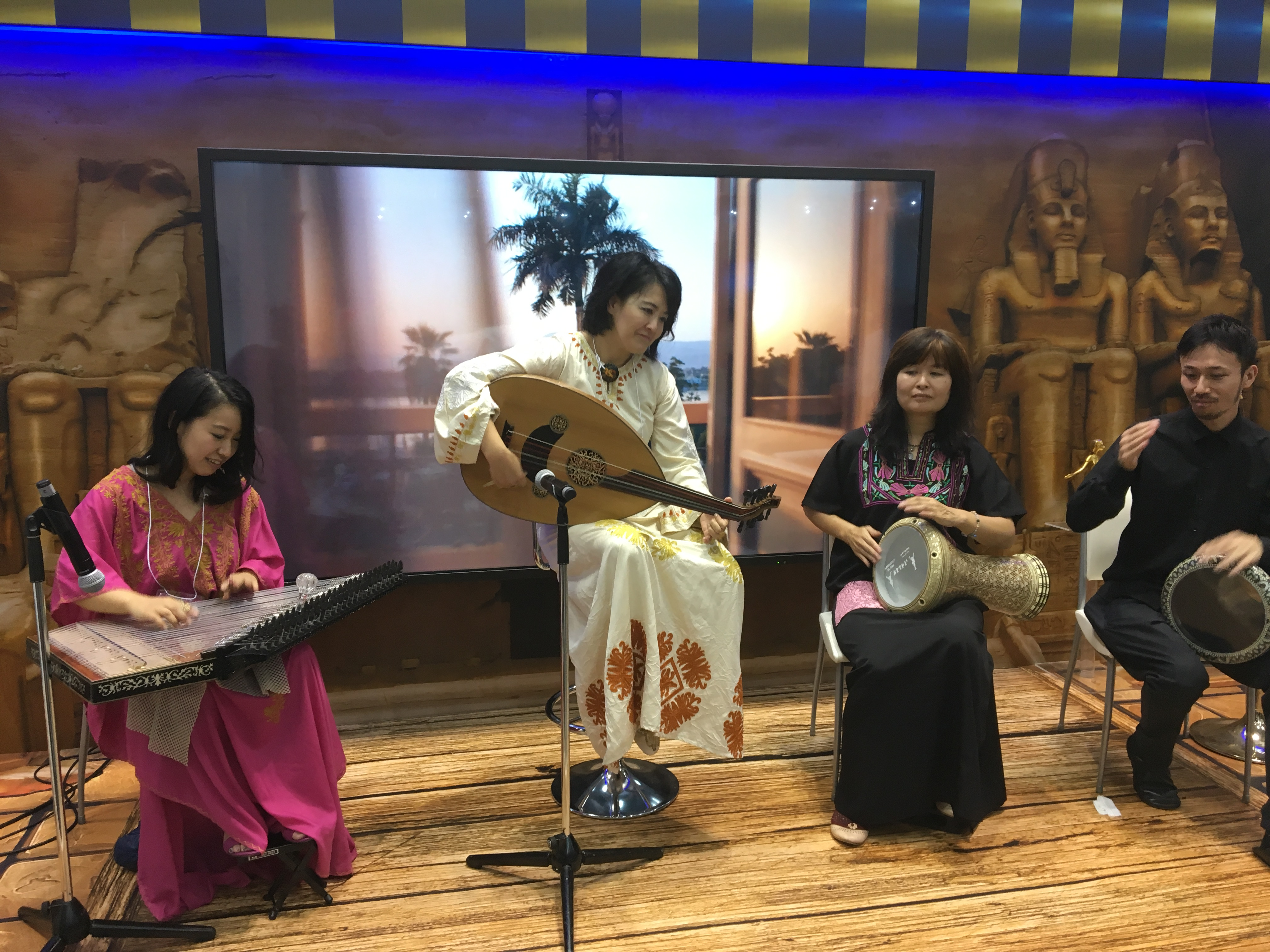 Oriental Music show during the Travel Trade fair in Japan